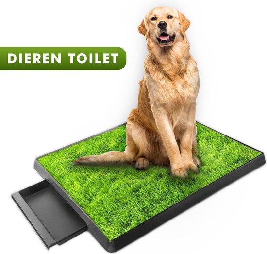 Hondentoilet voor grote honden, met kunstgras en opvangbak