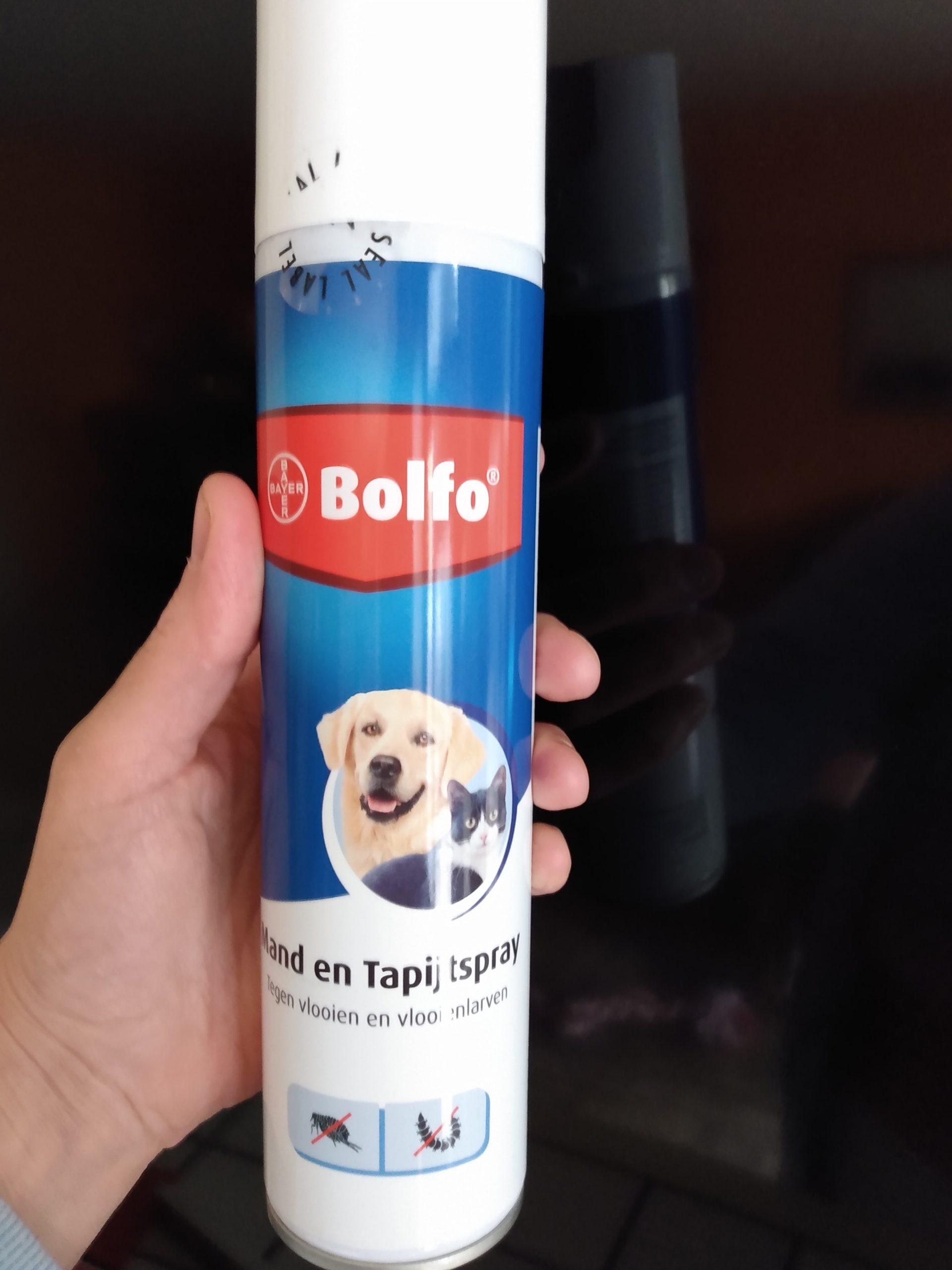 Wij gebruiken de omgevingsspray van Bolfo, die alles doodt.